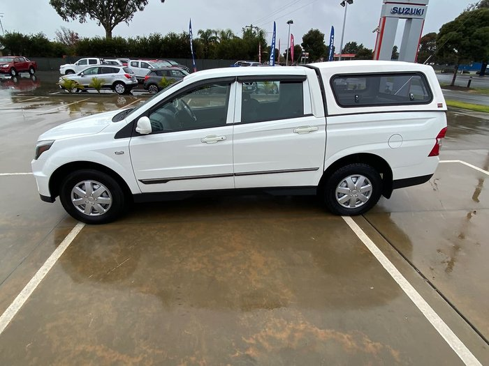 2012 SsangYong Actyon Sports Tradie Q150 MY12 White