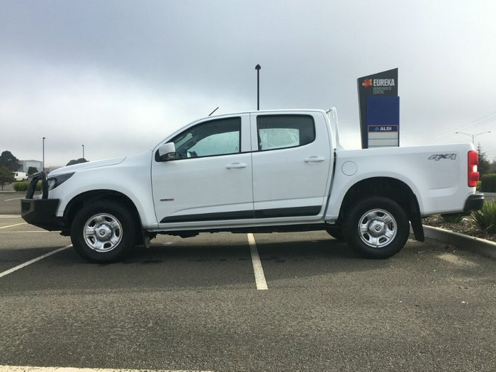 2017 Holden Colorado LS RG MY18 SUMMIT WHITE