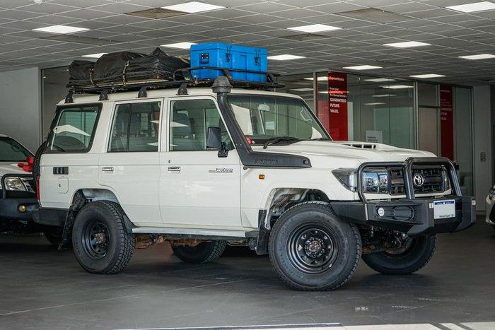2017 Toyota Landcruiser Workmate VDJ76R 4X4 Dual Range White