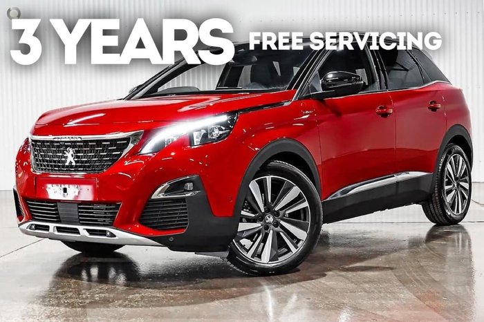 2020 Peugeot 3008 GT Line P84 MY20 Red