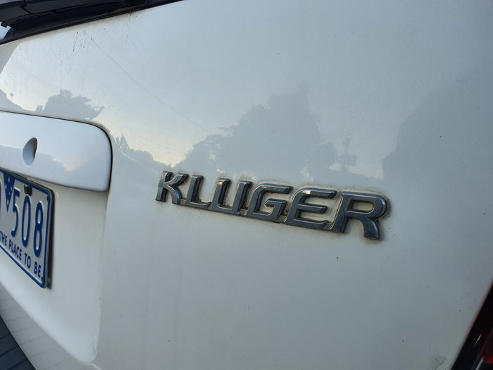 2006 Toyota Kluger CVX MCU28R MY06 Four Wheel Drive White