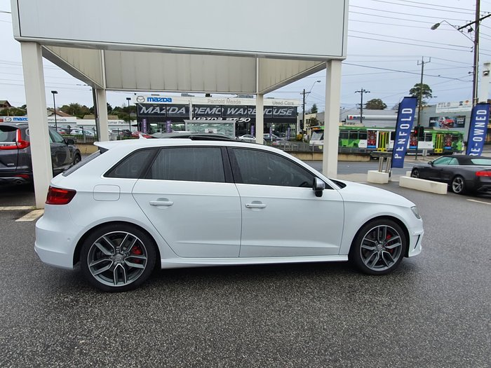 2015 Audi S3 8V MY16 Four Wheel Drive White