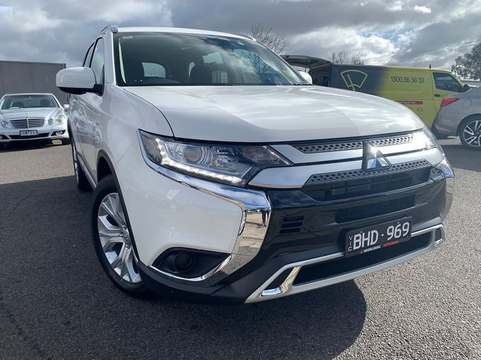 2019 Mitsubishi Outlander ES ZL MY20 4X4 On Demand White
