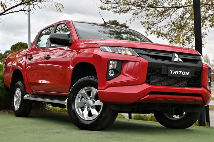 2019 Mitsubishi Triton GLX+ MR MY20 4X4 Dual Range Red