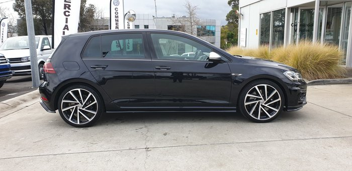 2020 Volkswagen Golf R 7.5 MY20 Four Wheel Drive Black