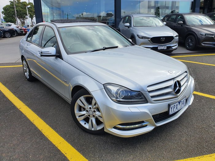 2011 Mercedes-Benz C-Class C200 BlueEFFICIENCY W204 MY11 Silver