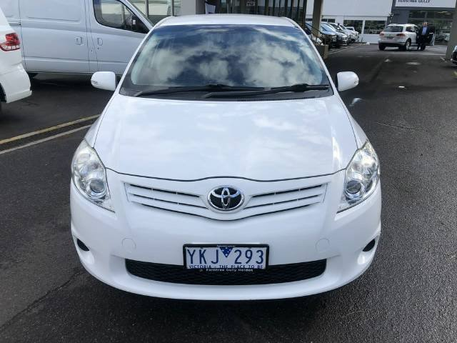 2011 Toyota Corolla Ascent ZRE152R MY11 WHITE
