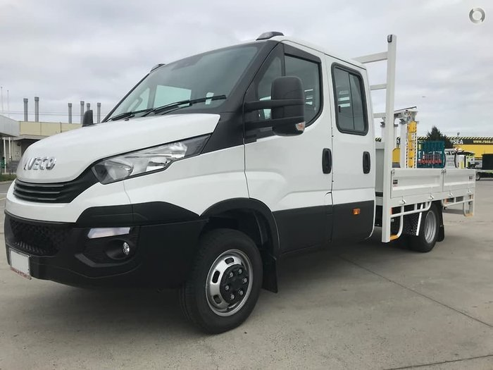 2020 IVECO 50C21 DUAL CAB 3750MM WHEELBASE WITH STEEL TRAY null null white