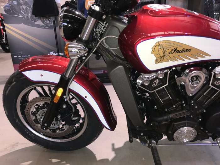 2020 Indian 2020 Indian 1100CC SCOUT INDIAN RUBY/METALLIC WHITE Red