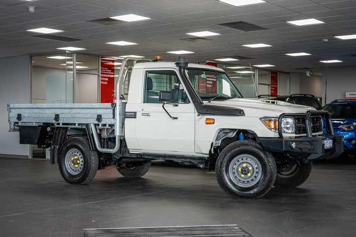 2018 Toyota Landcruiser Workmate VDJ79R 4X4 Dual Range White