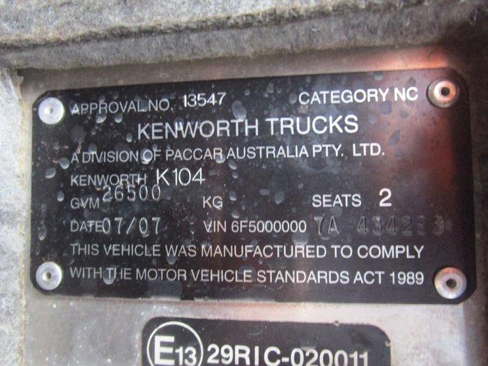 2007 KENWORTH K104B AERODYNE null null WHITE