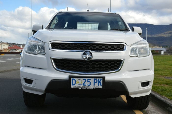 2013 Holden Colorado LX RG MY14 4X4 Dual Range WHITE