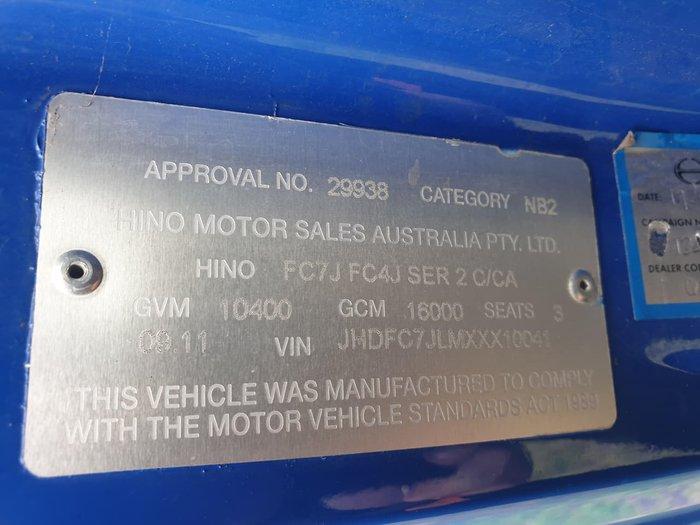 2011 HINO FC 1022 BLUE