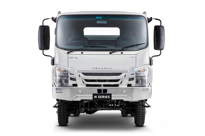 2020 Isuzu NPS CREW 4X4 SERVICE TRUCK White