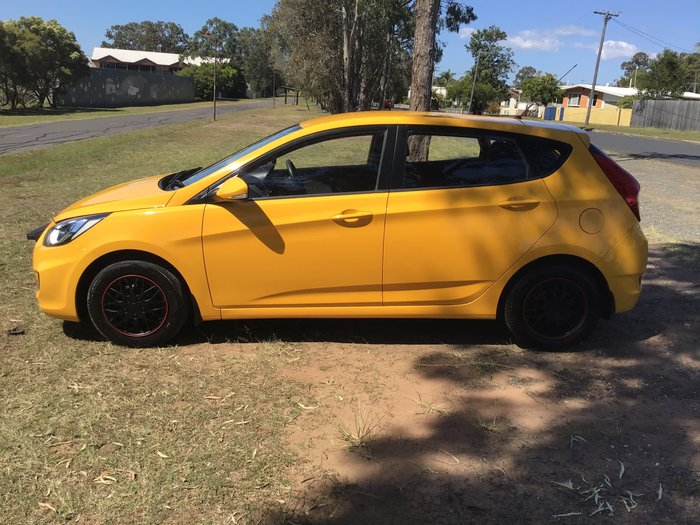 2014 Hyundai Accent Active RB2 MY15 Yellow