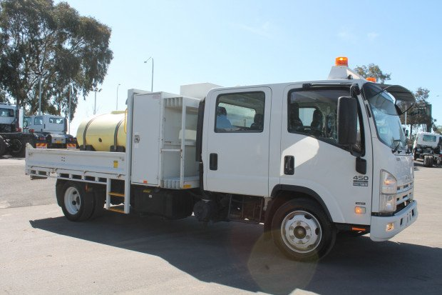 2013 Isuzu NQR450 Crew Cab Tipper EX COUNCIL White