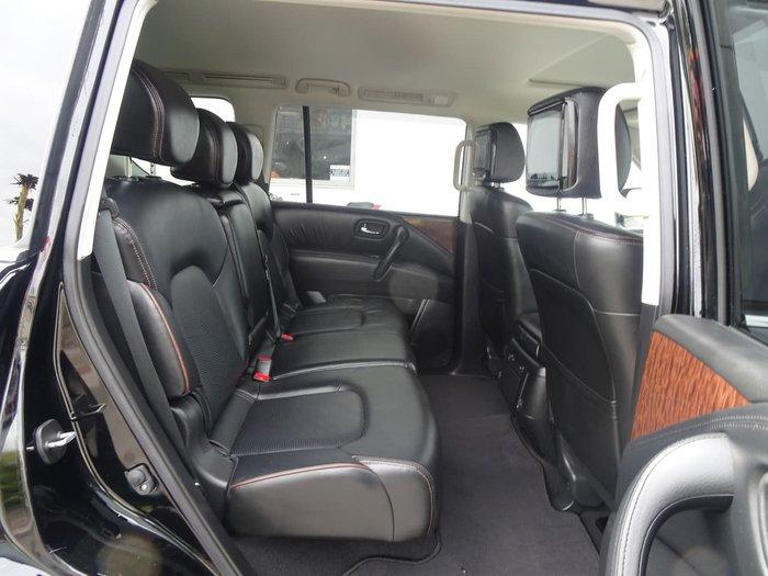 2018 Nissan Patrol Ti Y62 Series 4 4X4 Dual Range Black