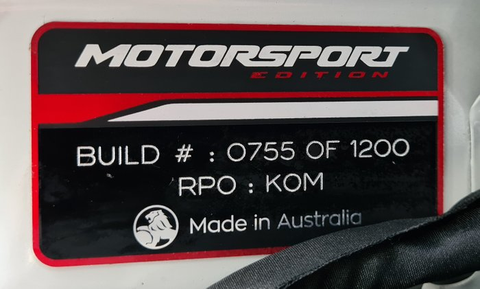 2017 Holden Commodore Motorsport Edition VF Series II MY17 White