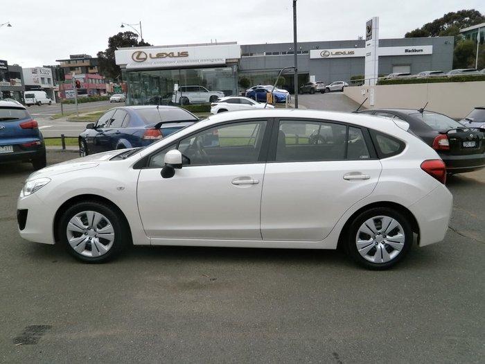2013 Subaru Impreza 2.0i G4 MY13 Four Wheel Drive White