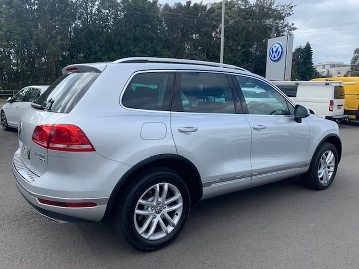 2016 Volkswagen Touareg 150TDI Element 7P MY16 Four Wheel Drive Silver