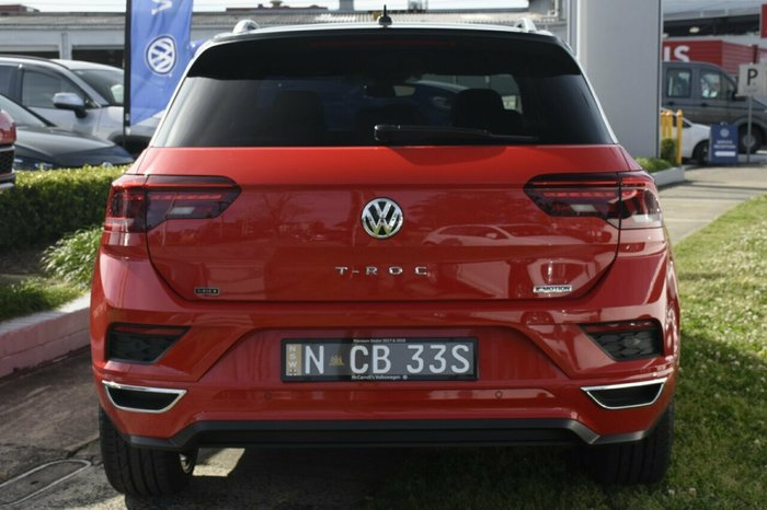 2020 Volkswagen T-Roc 140TSI X A1 MY20 Four Wheel Drive Flash Red