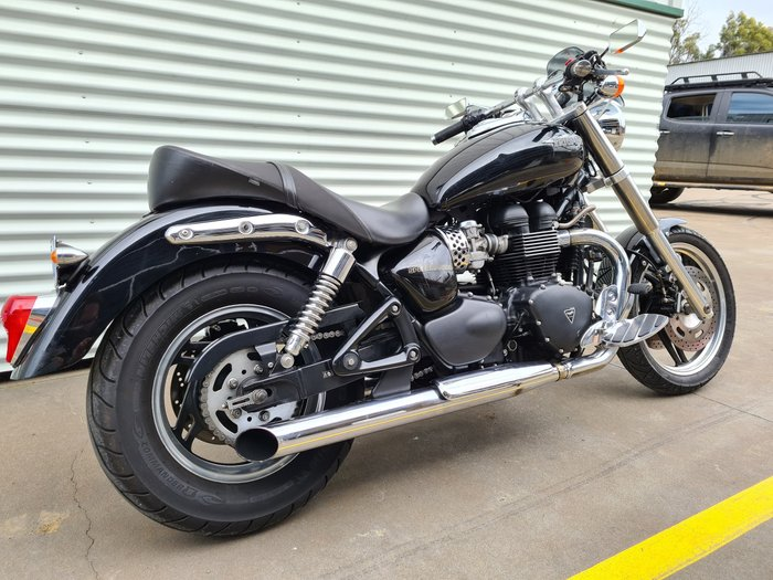 2008 Triumph Speedmaster 865 Speedmaster Phantom Black; Phantom Black/Tornado Red or Pacific Blue/Aluminium Silver