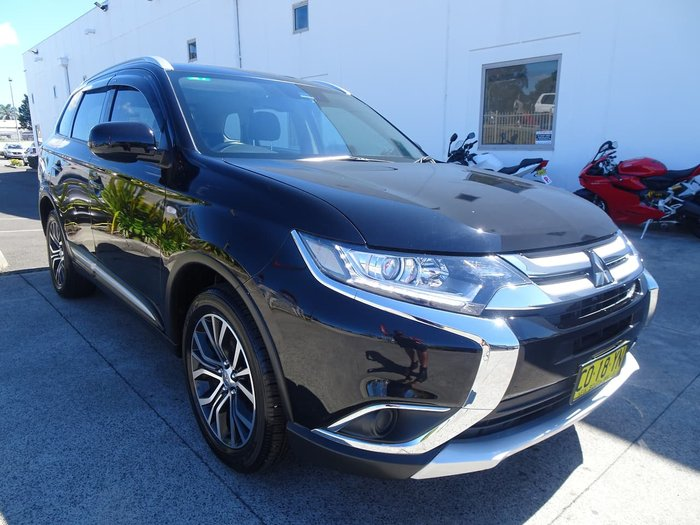 2017 Mitsubishi Outlander ES ZL MY18.5 4X4 On Demand Black