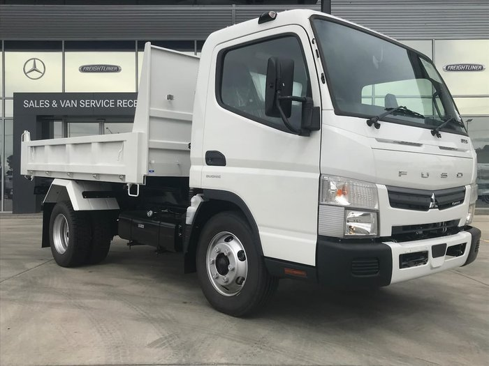2020 FUSO CANTER 815 WIDE CAB 4X2 TIPPER SWB 6SP A/T WHITE