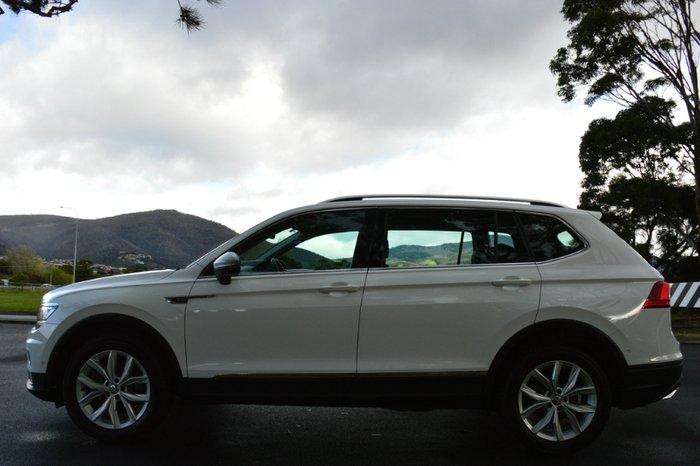 2018 Volkswagen Tiguan 132TSI Comfortline Allspace 5N MY18 Four Wheel Drive WHITE