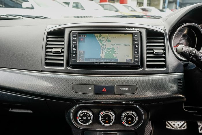 2010 Mitsubishi Lancer Ralliart CJ MY10 Four Wheel Drive Black