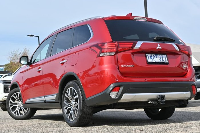 2017 Mitsubishi Outlander Exceed ZK MY17 4X4 On Demand Red