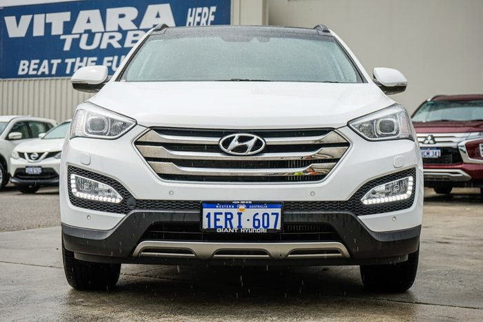2015 Hyundai Santa Fe Highlander DM2 MY15 4X4 On Demand White