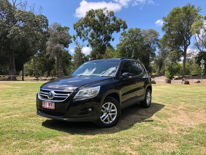 2009 Volkswagen Tiguan 103TDI 5N MY10 Four Wheel Drive Black