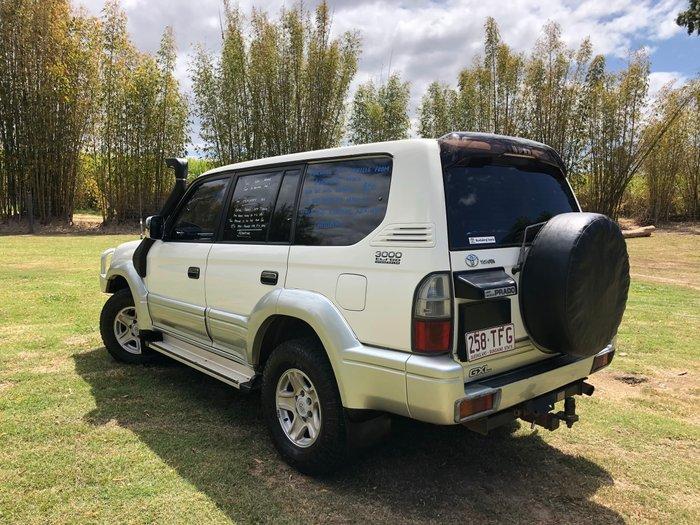 2001 Toyota Landcruiser Prado GXL KZJ95R 4X4 White