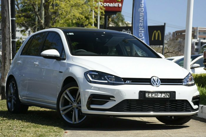 2019 Volkswagen Golf 110TSI Highline 7.5 MY19.5 Pure White