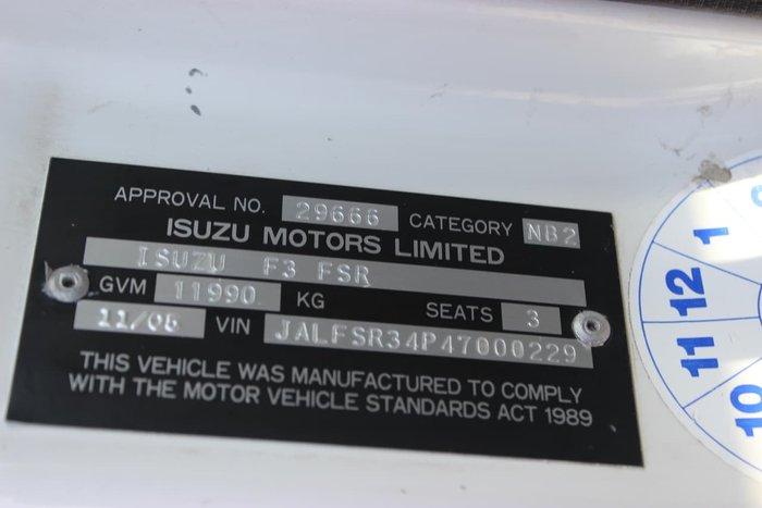 2005 ISUZU FSR700 WHITE