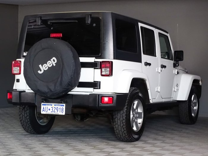 2014 Jeep Wrangler Unlimited Freedom JK MY14 4X4 Dual Range White