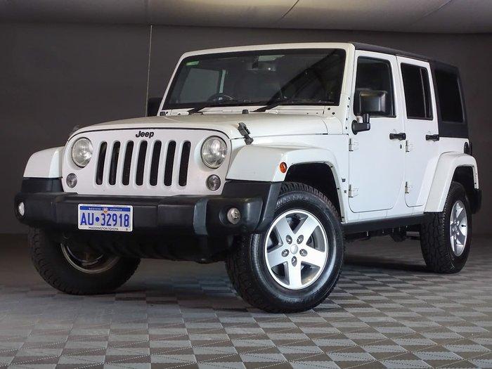 2014 Jeep Wrangler Unlimited Freedom JK MY14 4X4 Dual Range White