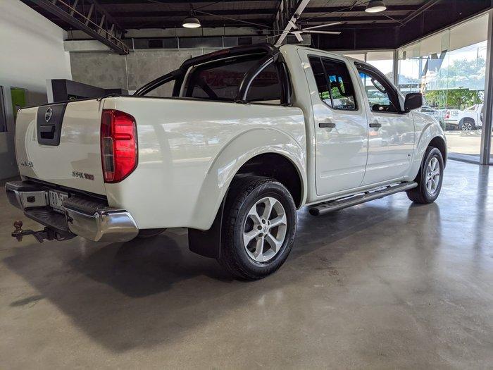 2012 Nissan Navara ST-X 550 D40 Series 5 4X4 White