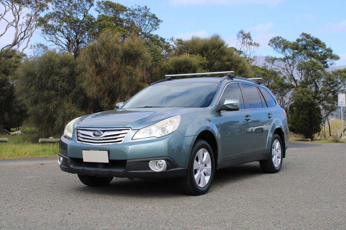 2010 Subaru Outback 2.5i 4GEN MY11 Four Wheel Drive Green