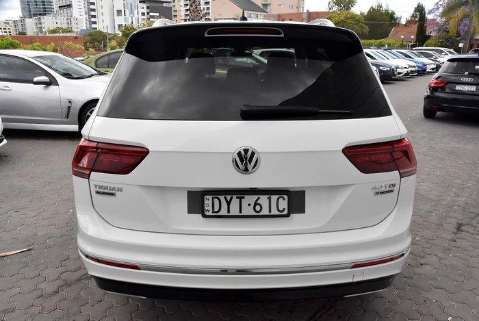 2018 Volkswagen Tiguan 140TDI Highline Allspace 5N MY18 Four Wheel Drive White