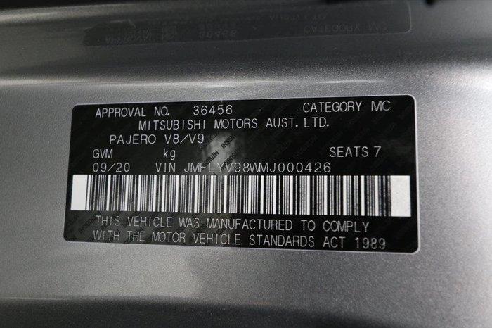 2020 Mitsubishi Pajero GLX NX MY20 4X4 Dual Range Silver