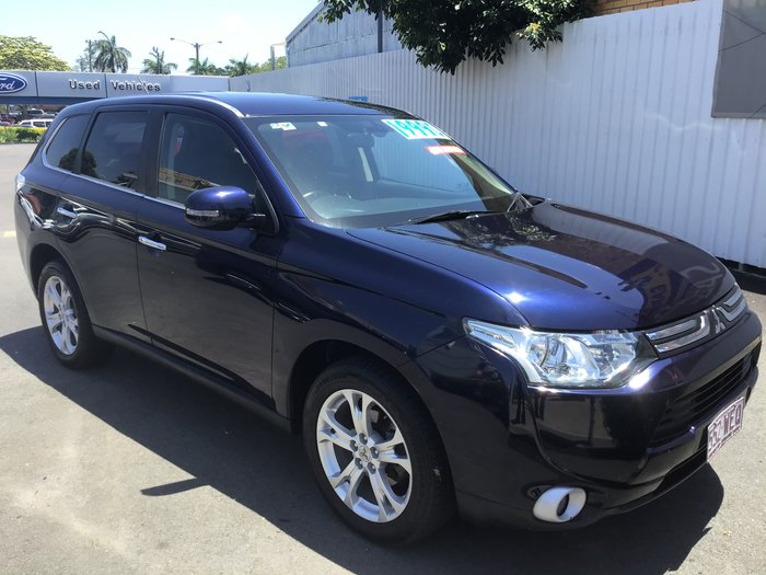 2012 Mitsubishi Outlander Aspire ZJ MY13 4X4 On Demand Blue