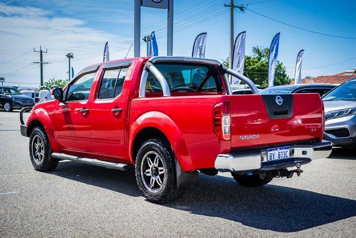 2012 Nissan Navara ST D40 Series 6 4X4 Red
