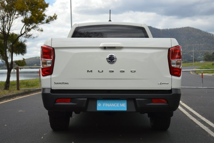 2020 SsangYong Musso Ultimate Q201 MY20.5 4X4 Dual Range GRAND WHITE