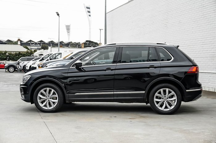 2017 Volkswagen Tiguan 162TSI Highline 5N MY17 Four Wheel Drive Black