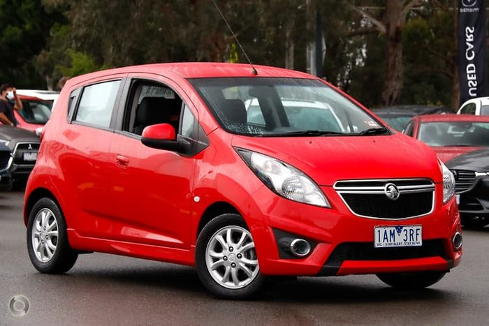 2013 Holden Barina Spark CD MJ MY13 Red