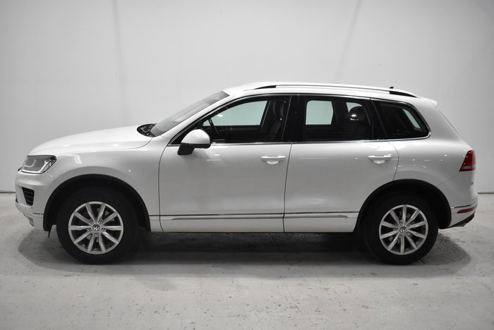 2015 Volkswagen Touareg 150TDI 7P MY16 Four Wheel Drive Pure White