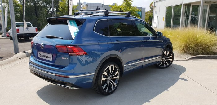 2020 Volkswagen Tiguan 162TSI Highline Allspace 5N MY20 Four Wheel Drive Blue Silk