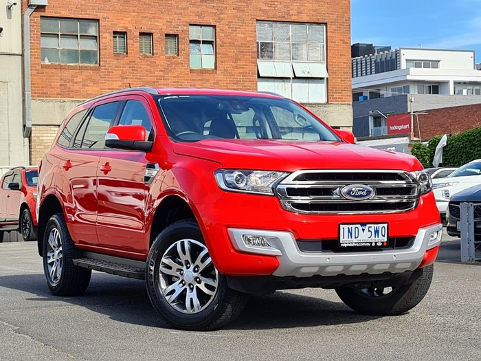 2018 Ford Everest Trend UA MY18 4X4 Dual Range Red